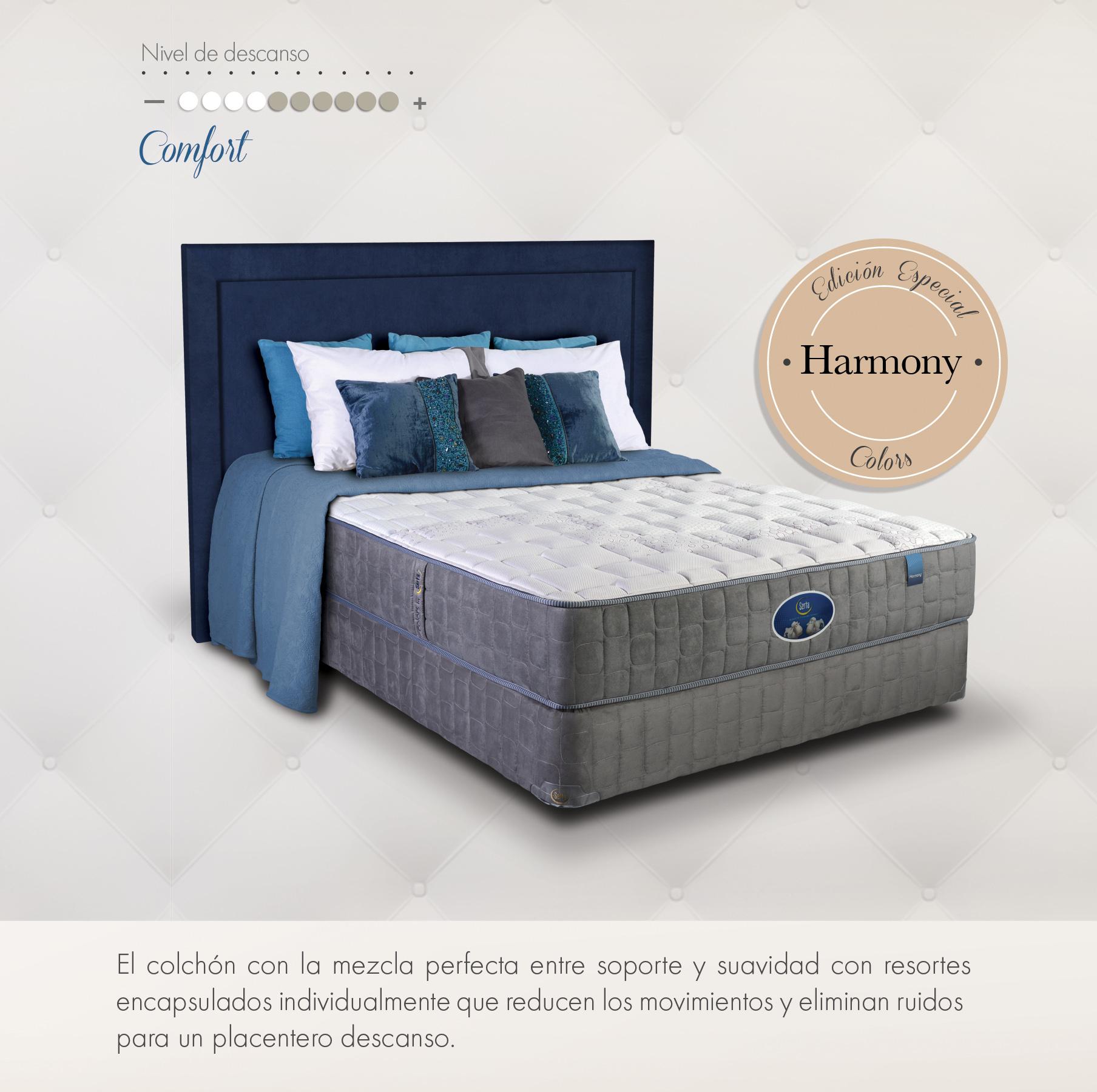 Serta harmony camas muebles para rec mara almohadas y for Cama olympia