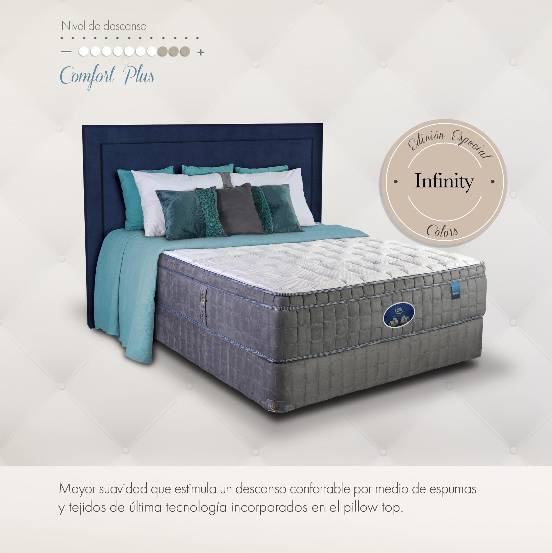 Serta infinity camas muebles para rec mara almohadas y for Muebles infinity